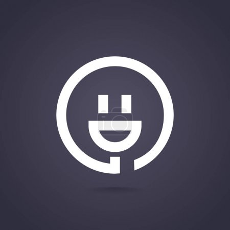 Illustration for Electricity web icon, vector illustration - Royalty Free Image