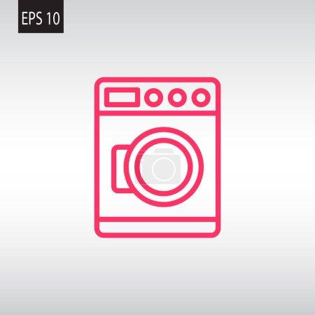Illustration pour Machine à laver icône web, illustration vectorielle - image libre de droit