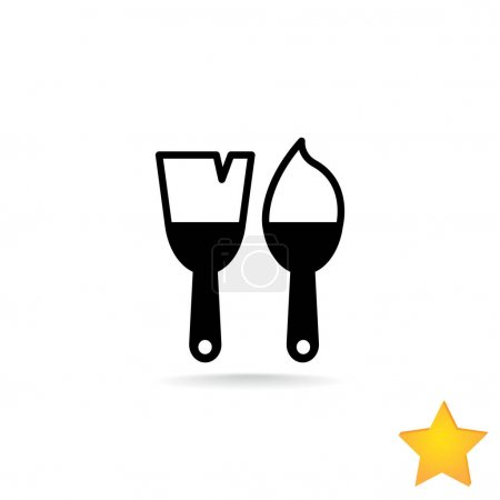 paint-brushes flat icon