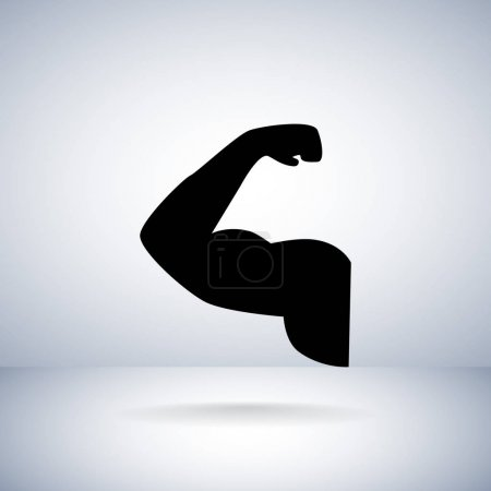 muscle flat style icon
