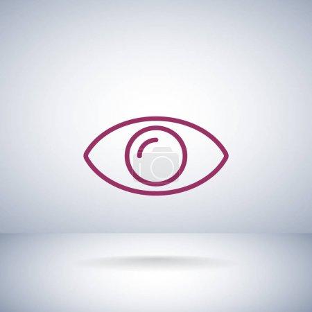 eye flat style icon