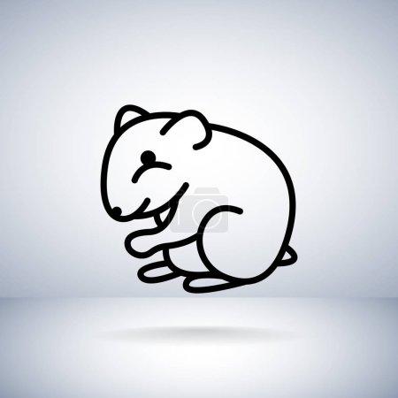 Rat flat icon