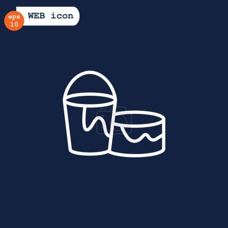 bucket flat style icon
