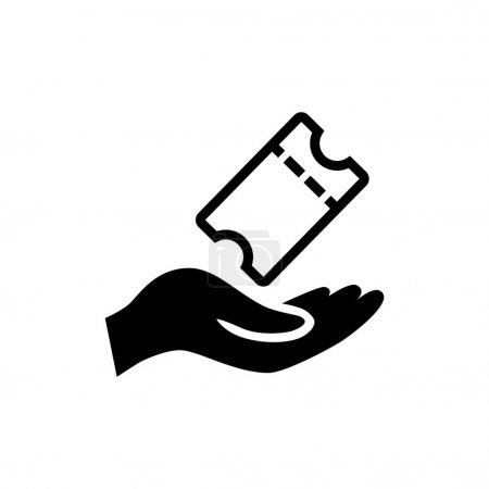 Simple movie ticket icon. Vector illustration