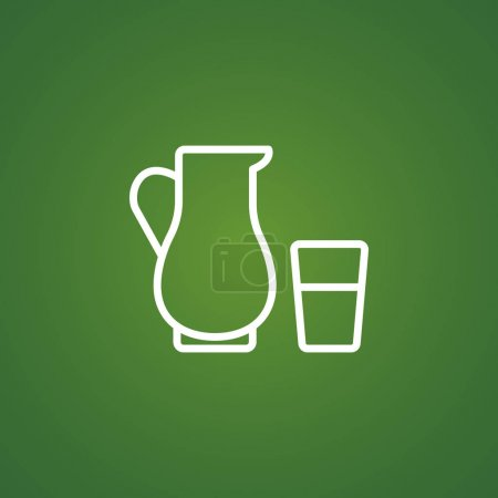 Jug and glass icon