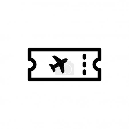 Airplane ticket icon