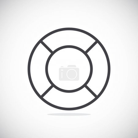 Illustration for Vector illustration of help Lifebuoy icon - Royalty Free Image