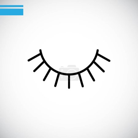 eyelashes  flat icon