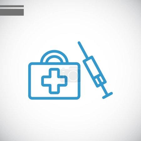 Illustration pour Illustration vectorielle de la seringue et du sac médical - image libre de droit