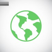Earth simple icon vector illustration