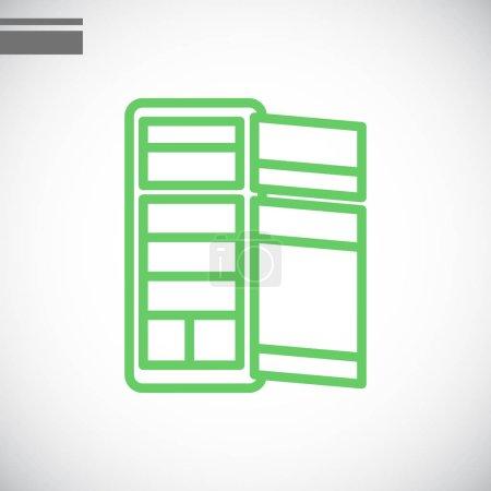 fridge flat icon