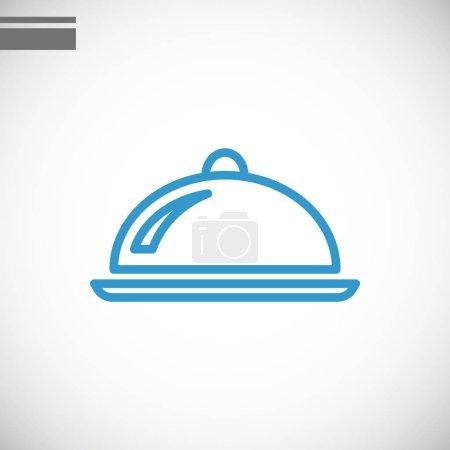 Illustration pour Illustration vectorielle de l'icône cloche restaurant - image libre de droit