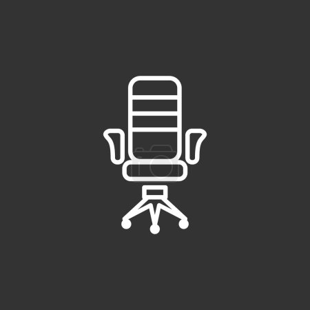 Office armchair  flat icon