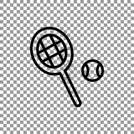 Tennis racket with ball sign icon