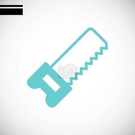 Illustration for Hacksaw flat icon , vector illustration - Royalty Free Image
