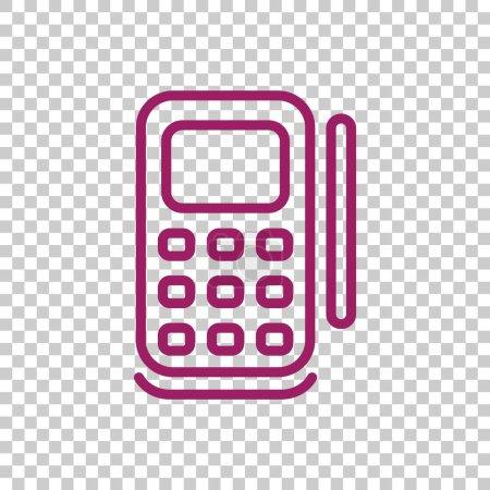 Illustration pour Icône terminal POS, illustration vectorielle - image libre de droit