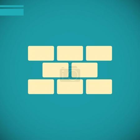 Bricks flat icon