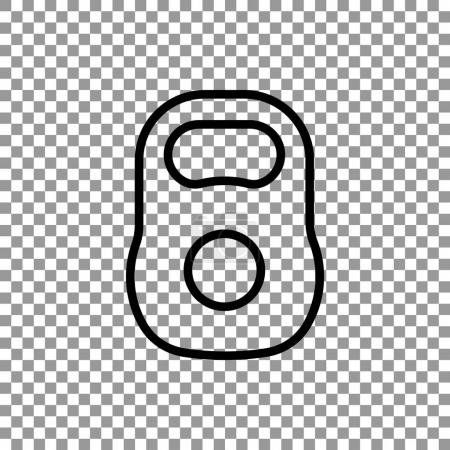 kettlebell simple icon