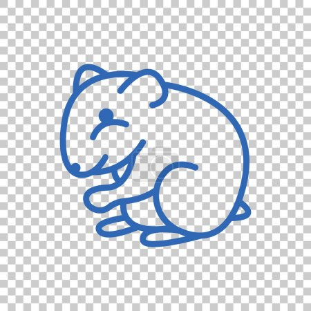 hamster flat style icon