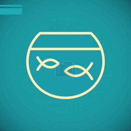 fish in aquarium icon