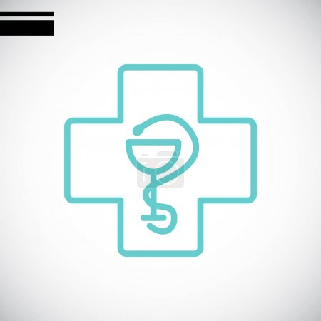 Illustration for Medical cross icon. vector illustration - Royalty Free Image