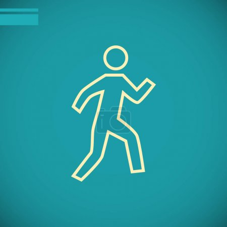 Illustration for Running person  flat icon , vector illustration - Royalty Free Image