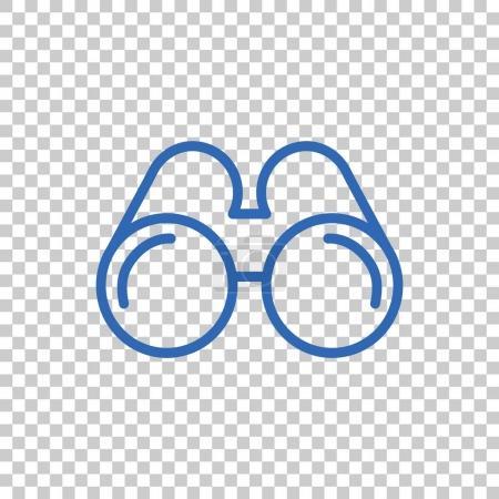 glasses flat icon