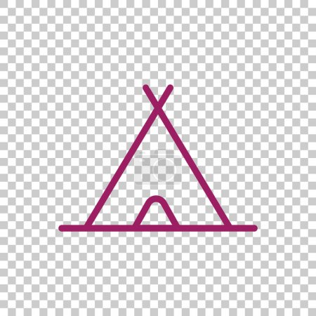 Camping tent icon