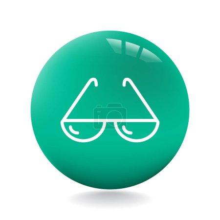 design of eyeglasses icon