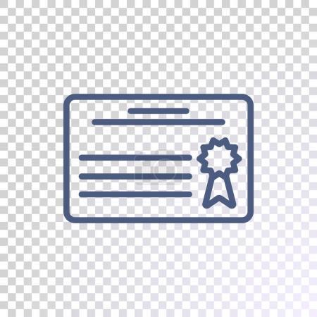 Diploma flat icon, vector illustration...