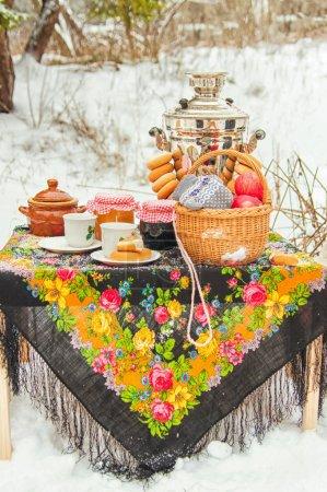 Russian style winter & snacks
