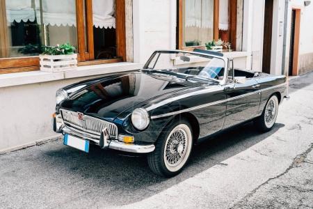 parked vintage car