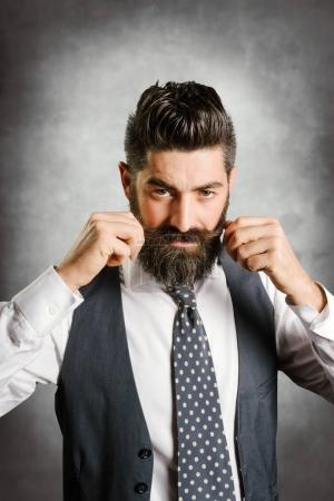 young businessman with a beard