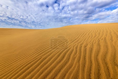 Sand desert with beautiful blue
