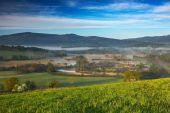 Landscape around Vltava river