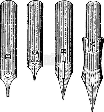 Vintage image ink pen