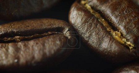 Macro shot of roasted coffee bean