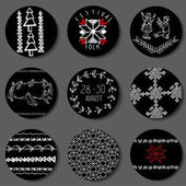 Ethnic decorations and symbols