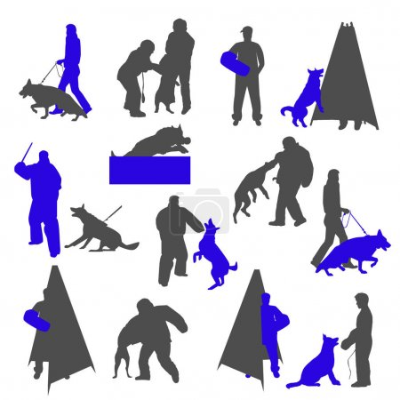Dog sport and training silhouettes
