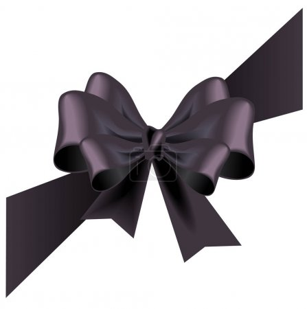 Illustration for Vector funeral card with black ribbon - Royalty Free Image