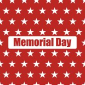 USA flag seamless pattern White stars on a red background Memorial day