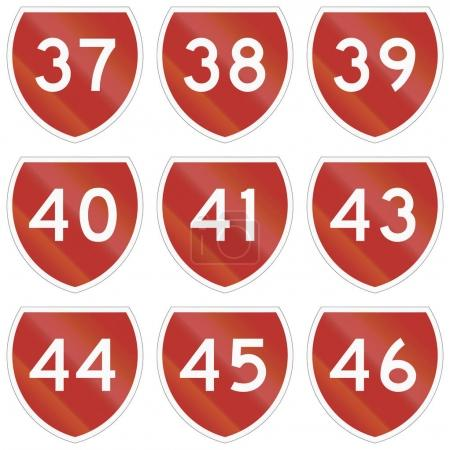 Collection of state highway shields in New Zealand