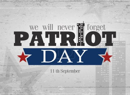 Patriot day lettering.