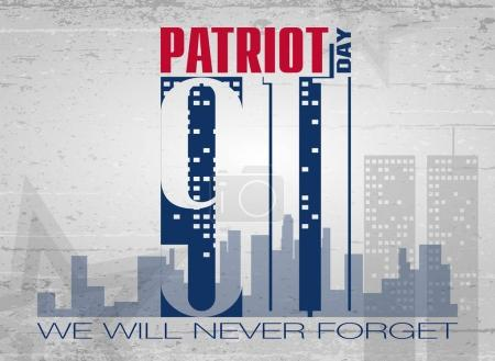 Patriot day lettering