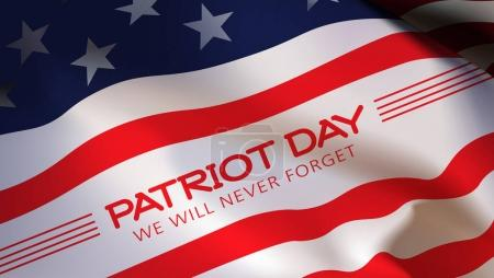 Patriot day background. american Flag