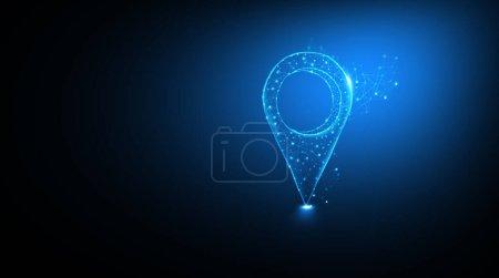 Photo pour Rechercher des endroits dans le monde entier. Concept de carte de localisation . - image libre de droit