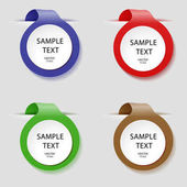 Vector labels of different colors for our labels Banner selection