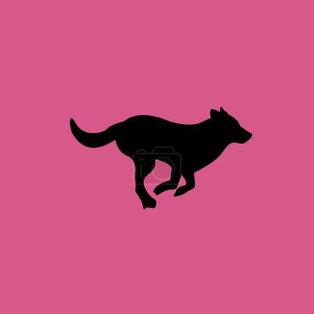 running dog icon illustration isolated vector sign symbol