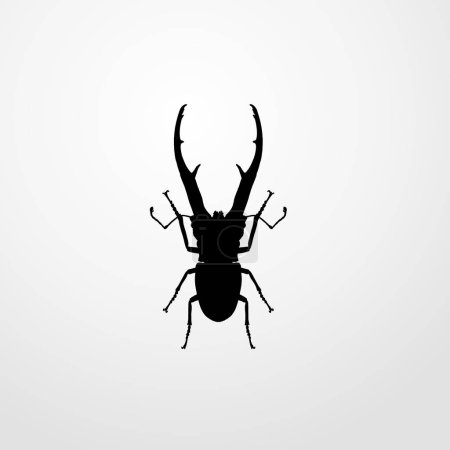 beetle insect icon illustration isolated vector sign symbol