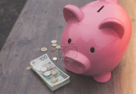 Photo pour Épargne-tirelire /money / concept de croissance - image libre de droit